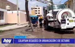 Chiclayo: Colapsan desagües en urbanización 3 de octubre