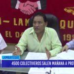 Chiclayo: 4500 colectiveros salen mañana a protestar