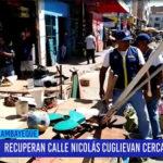Chiclayo: Recuperan calle Nicolás Cuglievan cerca al modelo