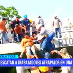 Iquitos: rescatan a trabajadores atrapados en una barcaza