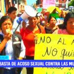 Protesta: ¡basta de acoso sexual contra las mujeres!