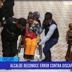 Chiclayo: Alcalde reconoce error contra discapacitados