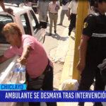 Chiclayo: Ambulante se desmaya tras intervención municipal