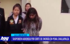 Suspenden audiencia por corte de energía en penal Challapalca