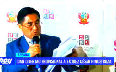 Justicia española da libertad provisional a ex juez César Hinostroza