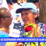 Así despidieron apristas los restos de Alan García