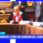Lima: Donayre Llora en comisión del Congreso