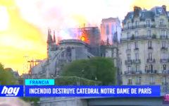 Francia: incendio destruye Catedral Notre Dame de París