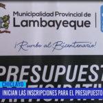 Chiclayo: Inician las inscripciones para el presupuesto participativo