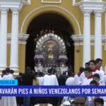 Lavarán pies a niños venezolanos por semana santa