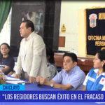 """Chiclayo: """"Los regidores buscan éxito en el fracaso de la gestión"""""""