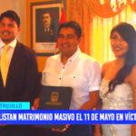 Trujillo: Alistan matrimonio masivo el 11 de mayo en Víctor Larco