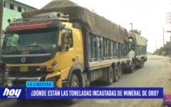 ¿Dónde están las toneladas incautadas de mineral de oro?