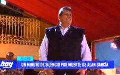 Julcán: un minuto de silencio por muerte de Alan García