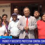 Chiclayo: Padres y docentes protestan contra consejero regional