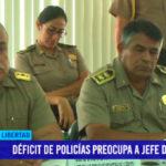 Déficit de policías preocupa a jefe de la PNP