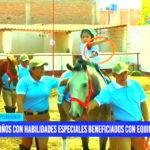 Niños con habilidades especiales participan de equinoterapia