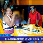 Chiclayo: Rescatan a menor de cantina en la cachina