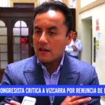 Richard Acuña critica a Vizcarra por renuncia de ministros