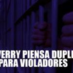 Salaverry planea duplicar pena para violadores