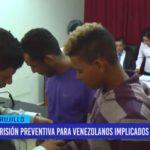Prisión preventiva para venezolanos implicados en robo