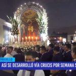 Así se desarrolló el vía crucis por Semana Santa