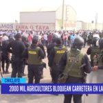 Chiclayo: 2000 mil agricultores bloquean carretera en Lambayeque