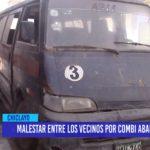 Chiclayo: Malestar entre los vecinos por combi abandonada