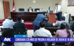 Chiclayo: Condenan a 20 años de prisión a violador de joven de 18 años