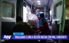 Chiclayo: Trasladan a Lima a recién nacida con mal congénito