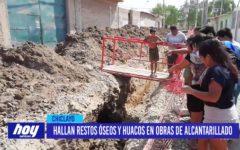 Chiclayo: Hallan restos óseos y huacos en obras de alcantarillado