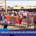 Chiclayo: Comerciantes realizan marcha para expropiación de las 36 tiendas