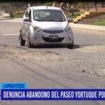Chiclayo: Denuncia abandono del Paseo Yortuque por autoridades
