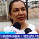 Piura: Inmunidad parlamentaria no debe ser un tema prioritario