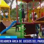 """Piura: Reabren área de juegos del parque infantil """"Miguel Cortez"""""""