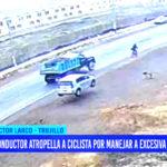Conductor atropella a ciclista por manejar a excesiva velocidad