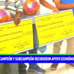 Campeón y subcampeón recibieron apoyo económico
