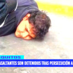 Iquitos: Policía Nacional capturó a delincuentes tras persecución a balazos
