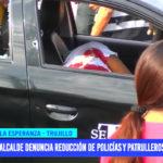 Alcalde denuncia reducción de policías y patrulleros en distrito La Esperanza