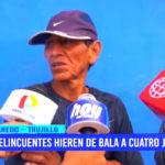 Trujillo: delincuentes hieren de bala a cuatro jóvenes en Laredo
