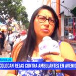 Colocan rejas contra ambulantes en avenida España