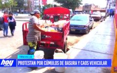 Contaminación ambiental: protestan por cúmulos de basura y caos vehicular