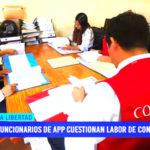 Funcionarios de APP cuestionan labor de Contraloría