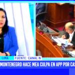 Montenegro hace mea culpa en APP por caso Donayre