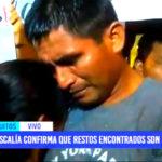 Elmer Ríos: Fiscalía confirma que restos encontrados son de menor