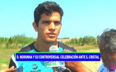Osnar Noronha y su controversial celebración ante Sporting Cristal