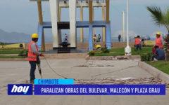 Chimbote: Paralizan obras del bulevar, malecón y plaza grau