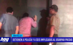 Detienen a dos policías y a seis implicados al usurpar predio