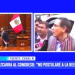 """Martín Vizcarra al Congreso: """"No postularé a la reelección el 2021"""""""