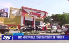 Chiclayo: Tres muertos dejó trágico accidente de tránsito